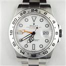 ROLEX 216570 EXPLORER II STAINLESS STEEL WHITE DIAL WRISTWATCH